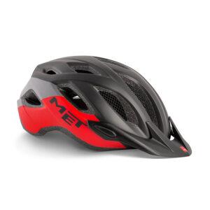 MET Crossover Helm schwarz rot XL
