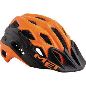 MET Lupo Helm MTB orange schwarz