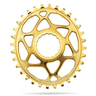 AbsoluteBlacksram-oval-RaceFace-direct-mount-Gold